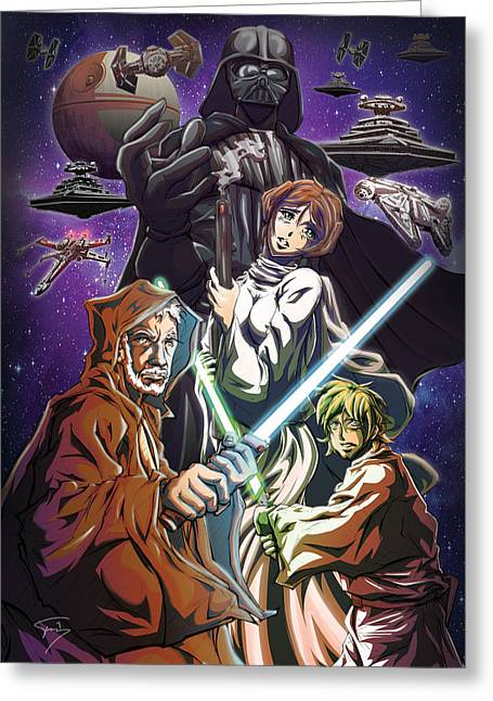 Japanimation Greeting Cards - A New Hope Greeting Card by Tuan HollaBack