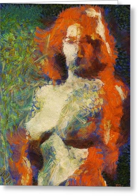 A New Impression By Mary Bassett Greeting Card by Mary Bassett