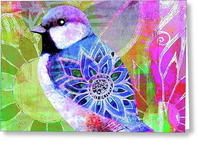 A New Little Digital Bird Greeting Card