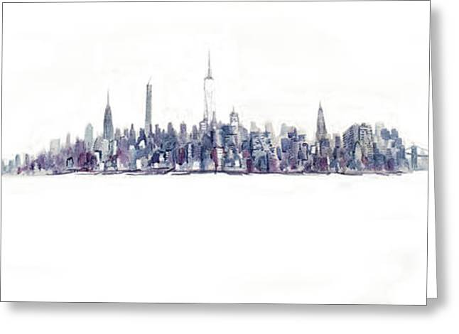 A New Year In Manhattan Greeting Card