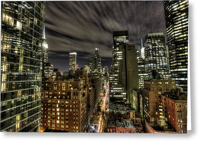 Greeting Card featuring the photograph A New York City Night by Shawn Everhart
