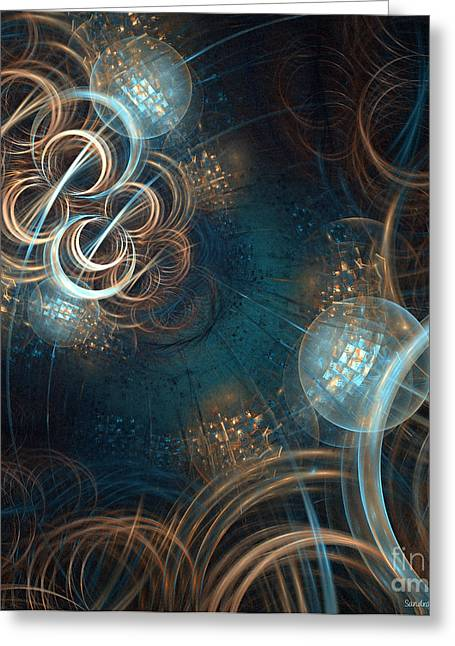 A Night At The Disco Greeting Card by Sandra Bauser Digital Art