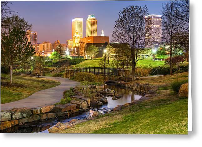 A Night At The Park - Tulsa Oklahoma Greeting Card