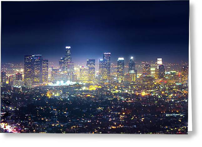 A Night In Los Angeles Greeting Card by Mark Andrew Thomas