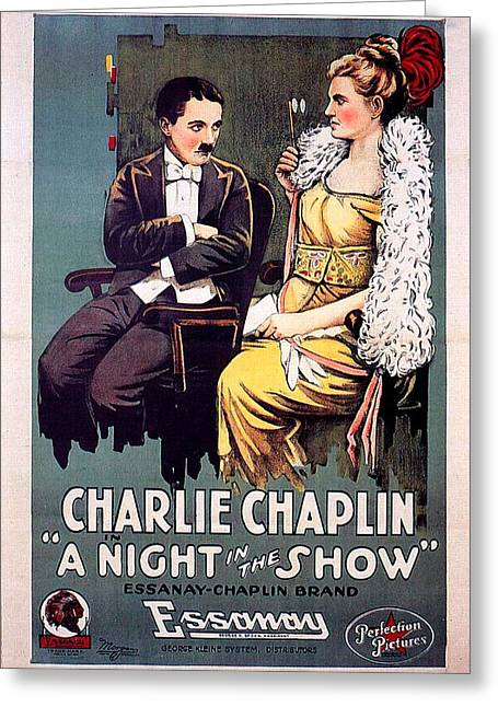 A Night In The Show 1915 Greeting Card