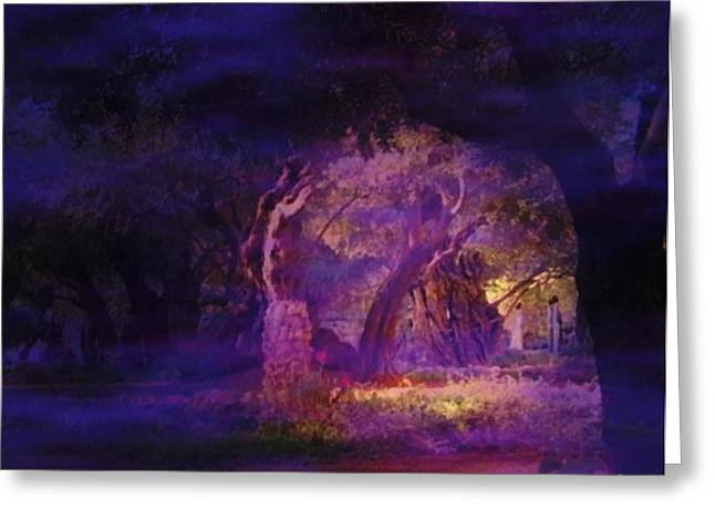 Greeting Card featuring the photograph A Night Of Weeping In The Garden Gethsemane Israel 2008 by Anastasia Savage Ealy