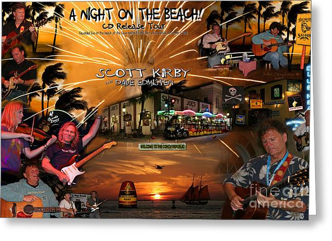 A Night On The Beach Scott Kirby Greeting Card