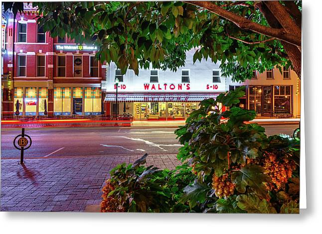 A Night On The Bentonville Arkansas Square Greeting Card