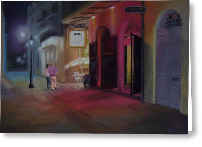 A Night On The Town Greeting Card by Marcus Moller