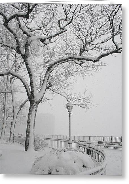 A Nor'easter In Brooklyn Greeting Card by Christopher Kirby
