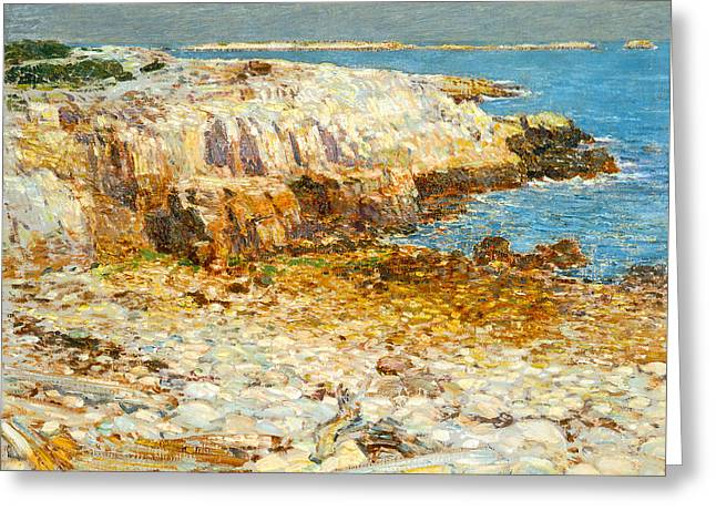 A North East Headland Greeting Card by Frederick Childe Hassam