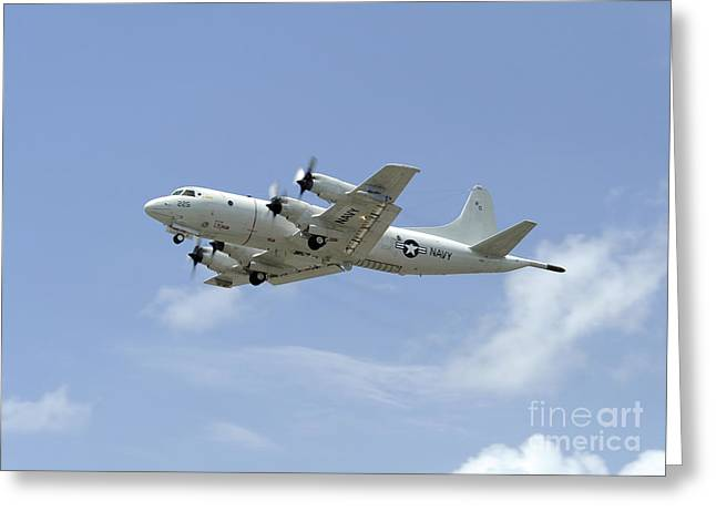 A P-3c Orion Aircraft Takes Greeting Card by Stocktrek Images