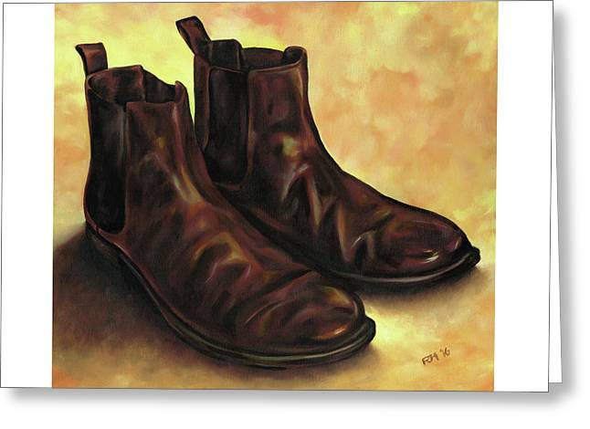 A Pair Of Chelsea Boots Greeting Card