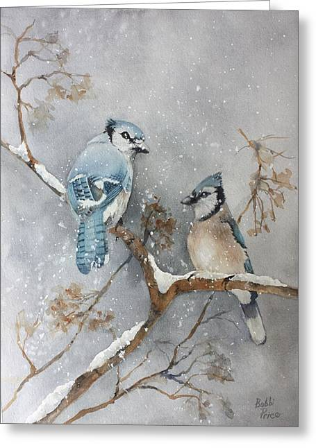A Pair Of Jays Greeting Card by Bobbi Price
