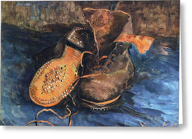A Pair Of Shoes, 1887 02 Greeting Card by Vincent Van Gogh