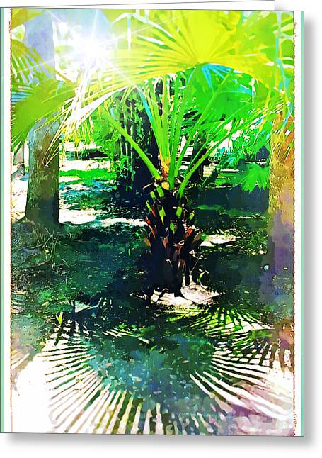 A Palm With Pizazz Greeting Card