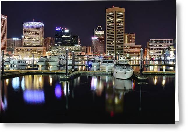 A Panoramic Baltimore Night Greeting Card