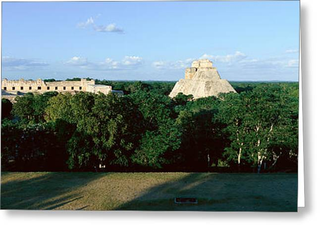 A Panoramic View From Left To Right Greeting Card by Panoramic Images