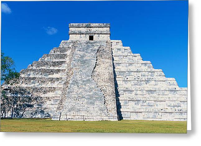 A Panoramic View Of The Mayan Pyramid Greeting Card