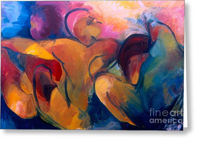 A Passion To Be Raised Greeting Card by Daun Soden-Greene