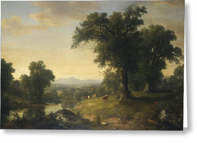 A Pastoral Scene Greeting Card