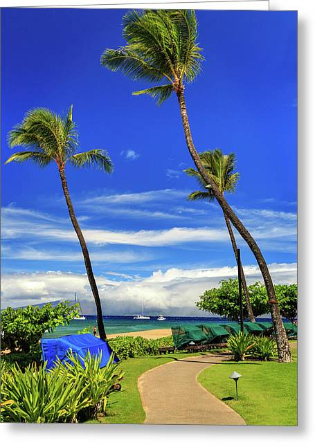 Greeting Card featuring the photograph A Path In Kaanapali by James Eddy