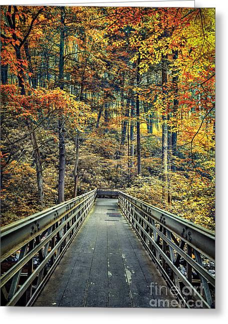 A Path Into Autumn Greeting Card
