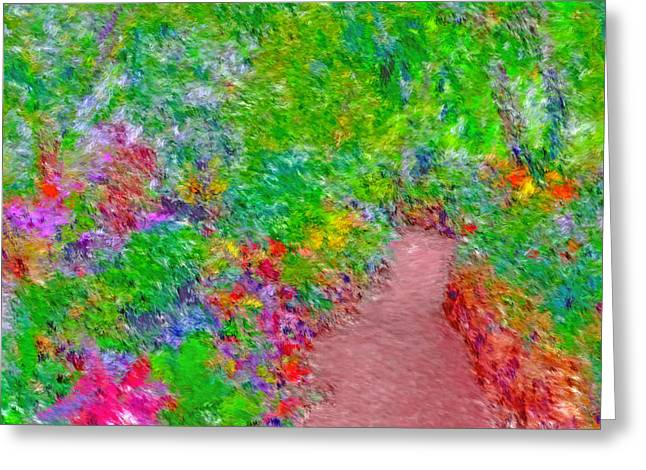 Greeting Card featuring the digital art A Path Through Eden by Digital Photographic Arts