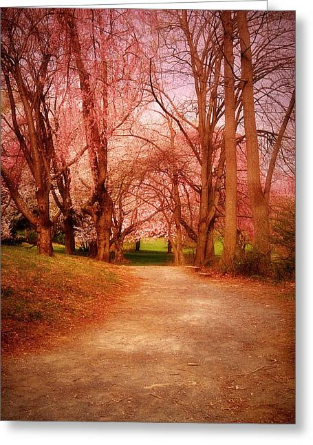 A Path To Fantasy - Holmdel Park Greeting Card by Angie Tirado