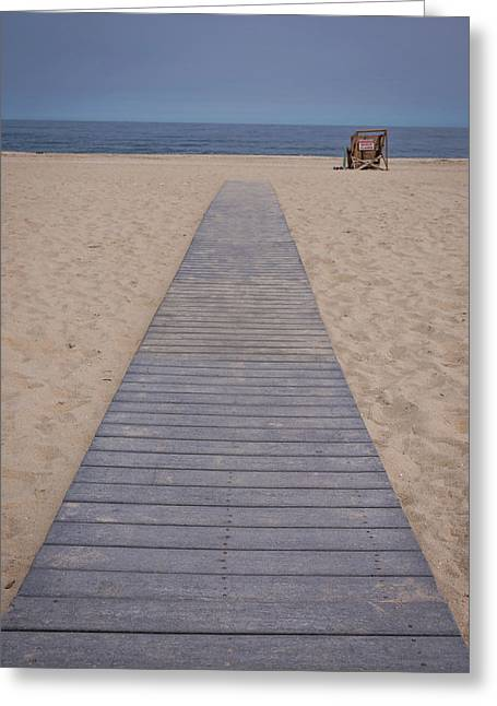 A Path To The Sea Point Pleasant Beach Nj Greeting Card by Terry DeLuco