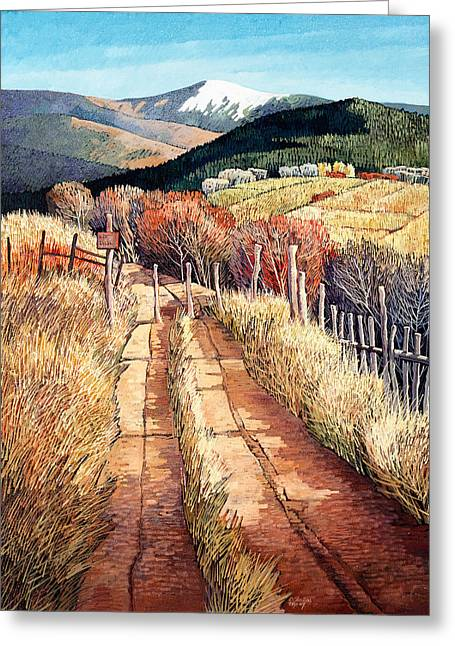 A Path Unknown Greeting Card by Donna Clair