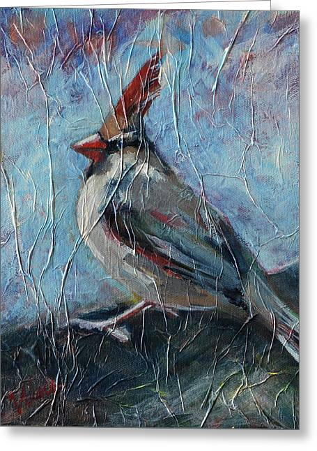 A Pause In The Feast Greeting Card by Pattie Wall