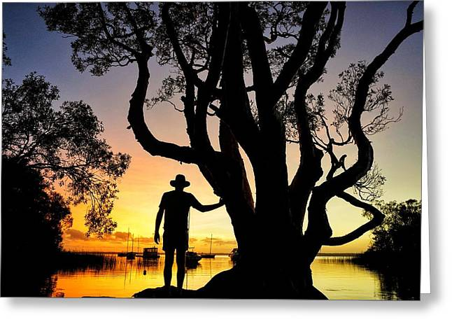 Greeting Card featuring the photograph A Peaceful Dawn Down By The Lake by Keiran Lusk
