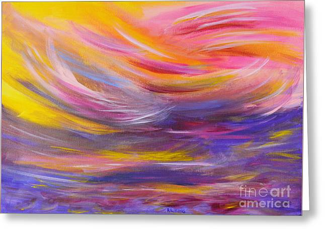 A Peaceful Heart - Abstract Painting Greeting Card