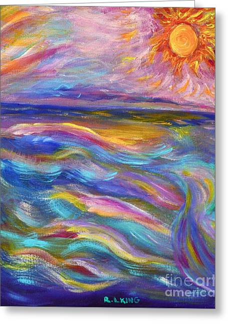 A Peaceful Mind - Abstract Painting Greeting Card