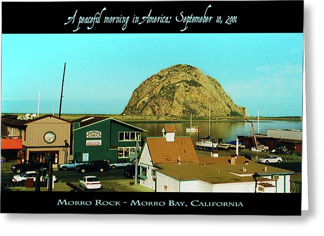A Peaceful Morning In America 9-10-01 Greeting Card