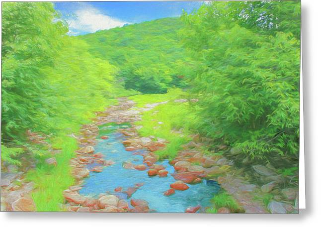 A Peaceful Summer Day In Southern Vermont. Greeting Card