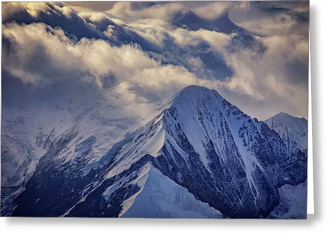 A Peak In The Clouds Greeting Card by Rick Berk