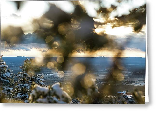 A Peek At Taos Mesa Greeting Card