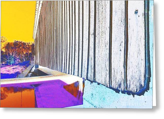 A Peek Beneath The Bridge - Abstract Greeting Card