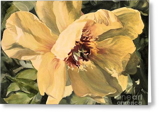 A Peony For Miggie Greeting Card