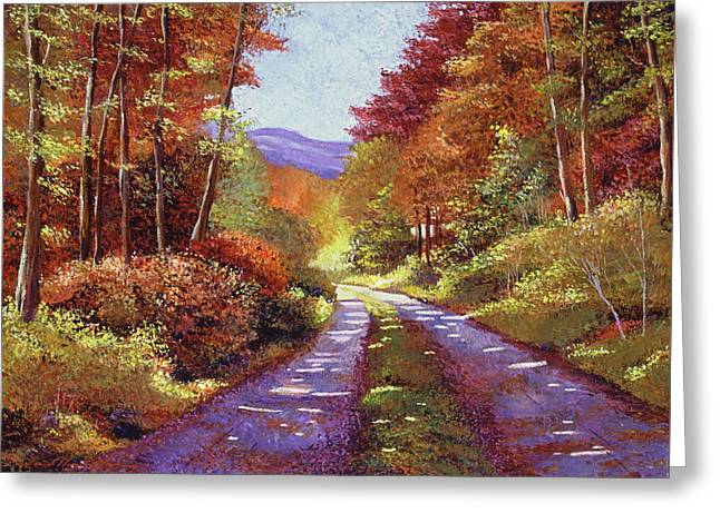 A Perfect Day In New Hampshire Greeting Card by David Lloyd Glover