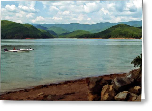 Bass Boat Greeting Cards - A Perfect Day Greeting Card by Kathy Jennings