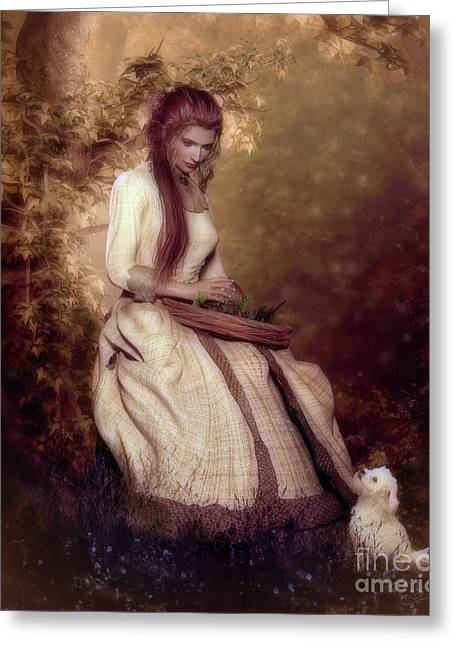 Lost In Thought Greeting Card by Shanina Conway