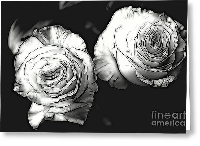 A Perfect Pair Bw Greeting Card