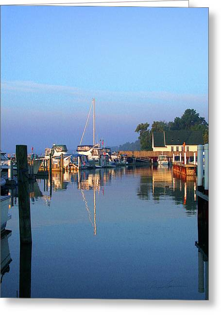 A Perfect Tawas Morning Greeting Card