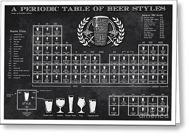 A Periodic Table Of Beer Styles Greeting Card