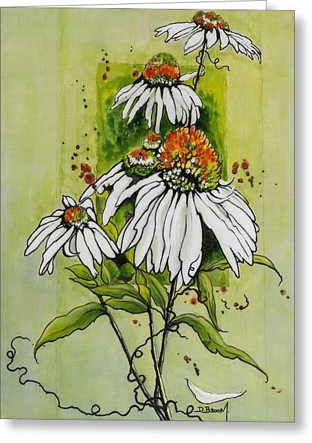 A Petal Falls Greeting Card by Dawn Broom