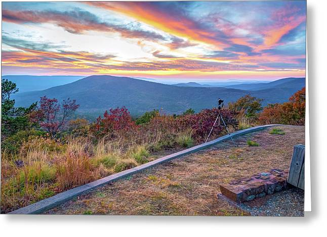 A Photographer's Palette - Talimena Scenic Byway Greeting Card by Gregory Ballos