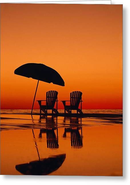 A Picturesque Scene With Two Chairs Greeting Card by Michael Melford